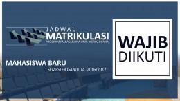 JADWAL MATRIKULASI 002